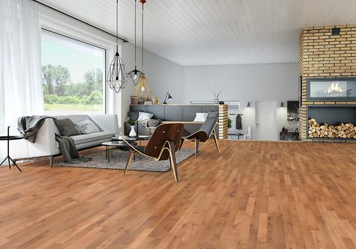 Junckers Beech SylvaRed Solid 2-Strip Wood Flooring, Untreated, Harmony, 129x14 mm Image 3