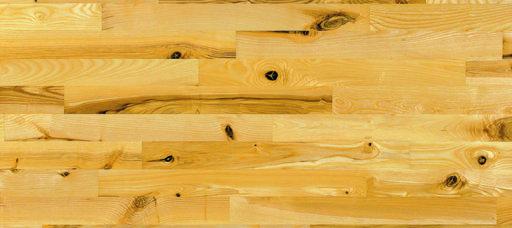 Junckers Light Ash Solid 2-Strip Wood Flooring, Untreated, Variation, 129x22 mm Image 3