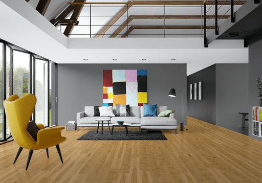 Junckers Solid Oak Wood Flooring, Ultra Matt Lacquered, Variation, 140x20.5 mm Image 1
