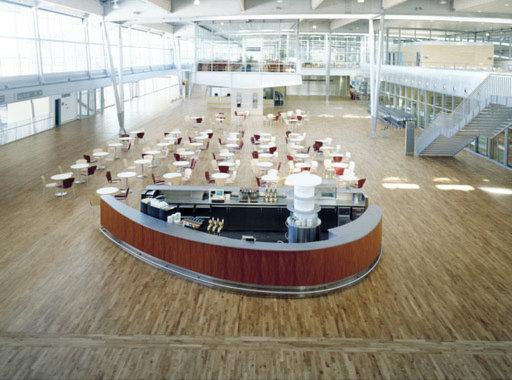 Junckers Solid Oak 2-Strip Flooring, Silk Matt Lacquered, Variation, 129x14 mm Image 1