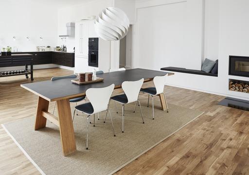 Junckers Solid Oak 2-Strip Flooring, Silk Matt Lacquered, Variation, 129x14 mm Image 3
