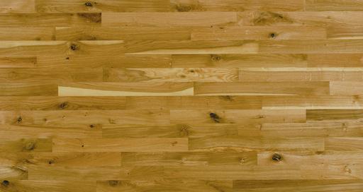Junckers Solid Oak 2-Strip Flooring, Untreated, Variation, 129x22 mm Image 1