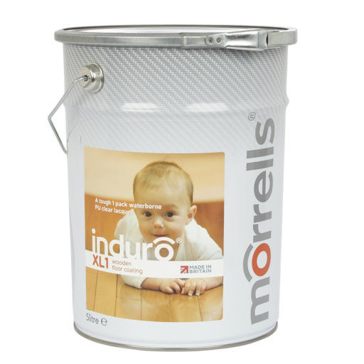 Morrells Induro XL1-90, Gloss Anti-Bacterial Waterbased Varnish, 5L Image 1