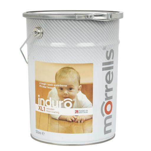 Morrells Induro XL1-50, Satin Anti-Bacterial Waterbased Varnish, 5L Image 1