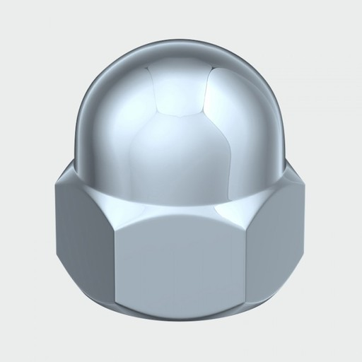 Hex Dome Nut BZP, M8, 100 pk Image 1