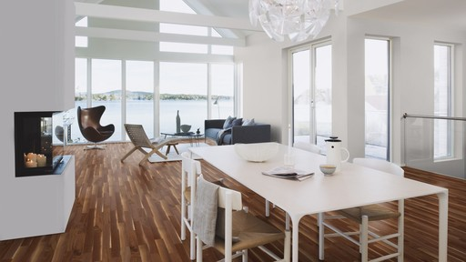 Boen Prestige Walnut American Parquet Flooring, Baltic, UV Lacquered, 10x70x590 mm Image 2