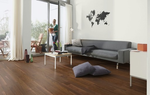 Boen Andante Walnut American Engineered 3-Strip Flooring, Matt Lacquered, 215x3x14 mm Image 1