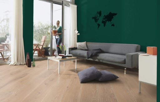 Boen Coral Oak 3-Strip Engineered Flooring, Brushed, Oiled, 215x3x14 mm Image 2