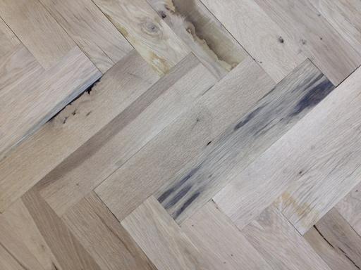 Oak Parquet Flooring Blocks, Rustic Extra, 70x350x20 mm Image 1