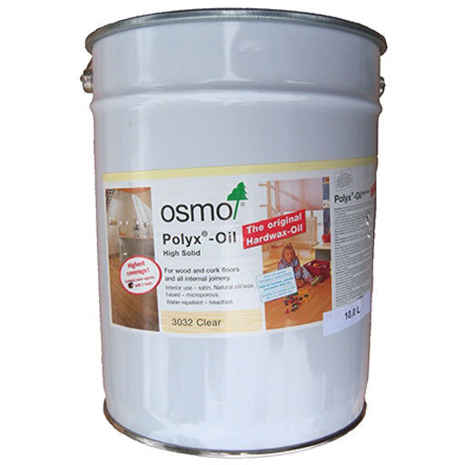 Osmo Polyx-Oil Hardwax-Oil, Original, Satin Finish, 10L Image 1