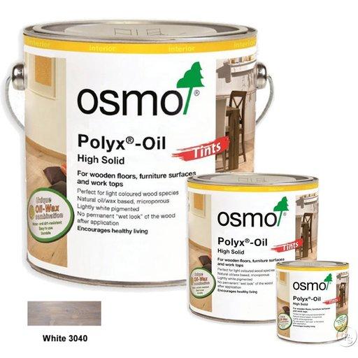 Osmo Polyx-Oil Hardwax-Oil, Tints, White, 2.5L Image 1