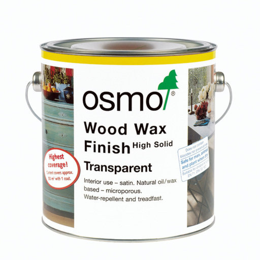Osmo Wood Wax Finish Transparent, White, 0.75L Image 3
