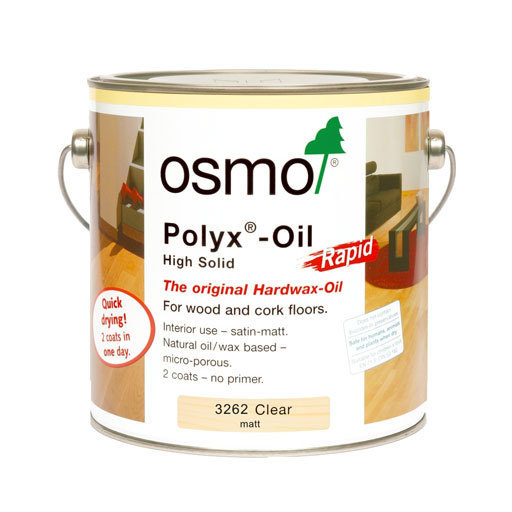 Osmo Polyx-Oil Hardwax-Oil, Rapid, Matt Finish, 0.75L Image 1