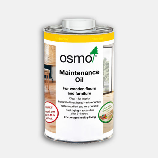 Osmo Maintenance Oil, Anti-Slip, Clear, Semi-Matt, 1L Image 1