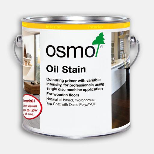 Osmo Oil Stain, Black, 1L Image 1