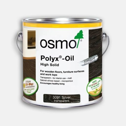 Osmo Polyx-Oil Hardwax-Oil, Effect Silver, 2.5L Image 1