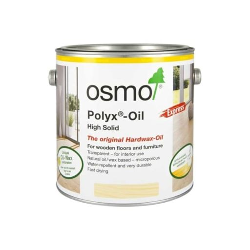 Osmo Polyx-Oil Hardwax-Oil, Express, Clear Satin, 10L Image 1