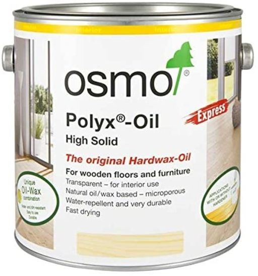 Osmo Polyx-Oil Hardwax-Oil, Express, Clear Satin, 2.5L Image 1