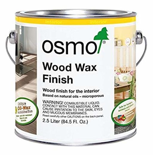 Osmo Wood Wax Finish Transparent, Lightly Steamed Beech, 2.5L Image 1