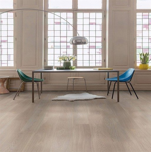 QuickStep Palazzo Frosted Oak Engineered Flooring, Oiled, 1820x190x14 mm Image 1