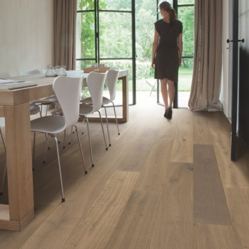 QuickStep Palazzo Latte Oak Engineered Flooring, Oiled, 1820x190x14 mm Image 1