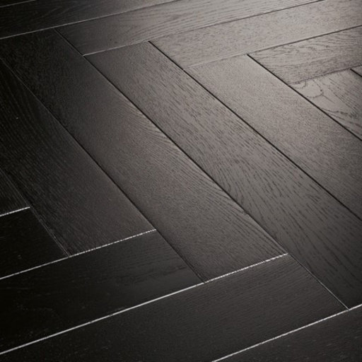 Kersaint Cobb Providence Herringbone Dark Oak Engineered Flooring, Rustic, Matt Lacquered, 95x10.5x570 mm Image 1