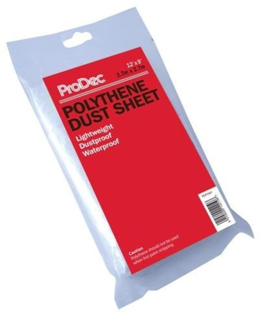ProDec Polythene Dust Sheet, 3.7 x 2.7 m Image 1