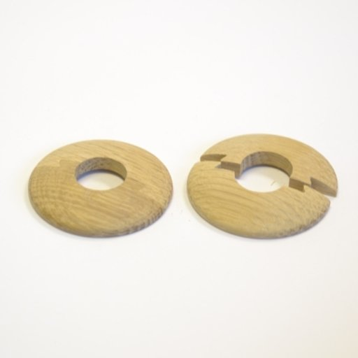 Solid Oak Pipe Surrounds (Pipe Ferrule) Unfinished, 16 mm, Pair Image 1
