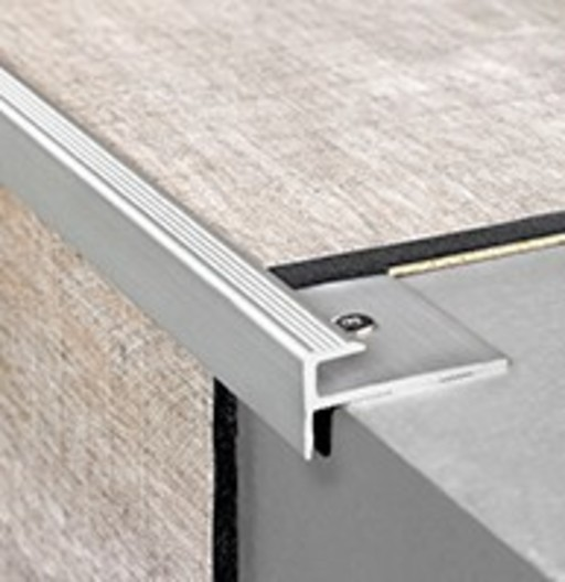 QuickStep Stair Profile Click, Silver, 2000x30x15 mm Image 1
