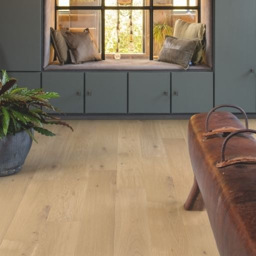 QuickStep Palazzo Almond White Oak Engineered Flooring, Brushed, Oiled, 190x14x1820 mm Image 2