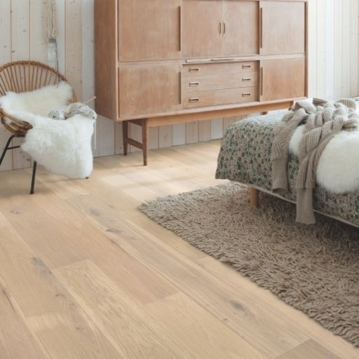 QuickStep Palazzo Almond White Oak Engineered Flooring, Brushed, Oiled, 190x14x1820 mm Image 5