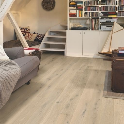 Quickstep Compact Himalayan White Oak Engineered Flooring, Extra Matt Lacquered, 145x2.5x12.5 mm Image 2