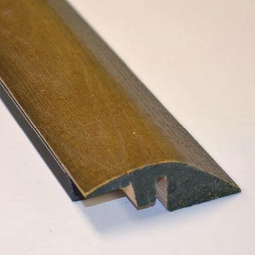 Solid Dark Oak Reducer Threshold, Lacquered, 90 cm Image 1