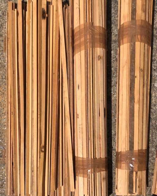 Reclaimed Pine Wood Slivers Strips, 50 pcs, 7-10 mm Image 2