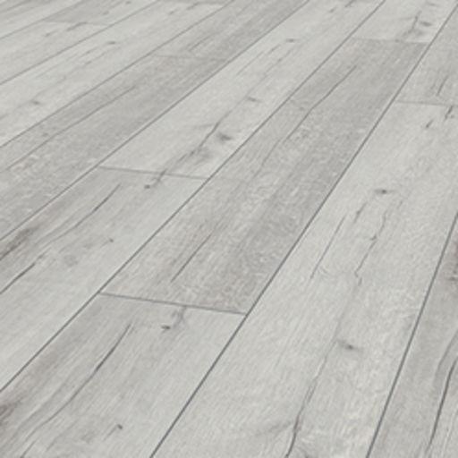 Robusto Rip Oak White Laminate Flooring, 12 mm Image 1