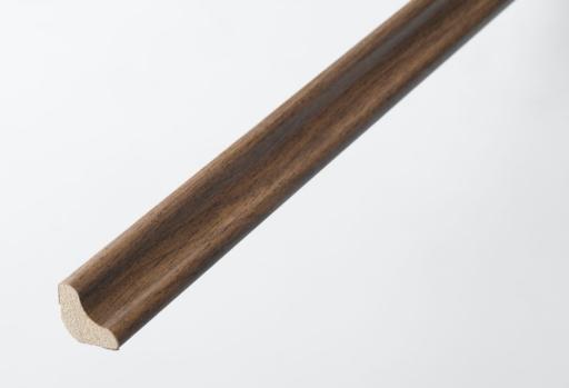 HDF Antique Walnut Scotia Beading For Laminate Floors, 18x18 mm, 2.4 m Image 1