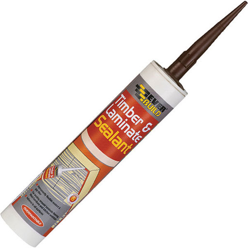 Everbuild Timber & Laminate Sealant, Mahogany, 295 ml Image 1