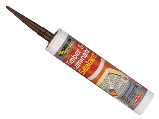 Everbuild Timber & Laminate Sealant, Oak, 295 ml Image 1