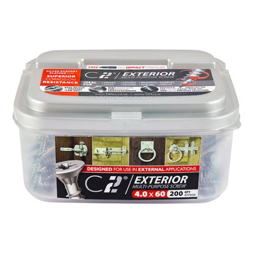 TIMco C2 Multi-Purpose Advanced Screws - PZ - Double Countersunk - Exterior - Silver 4.0 x 30 mm Image 2