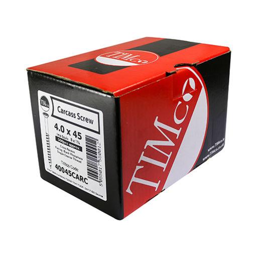 TIMco Carcass Screws - PZ - Black 4.0 x 45 mm Image 2