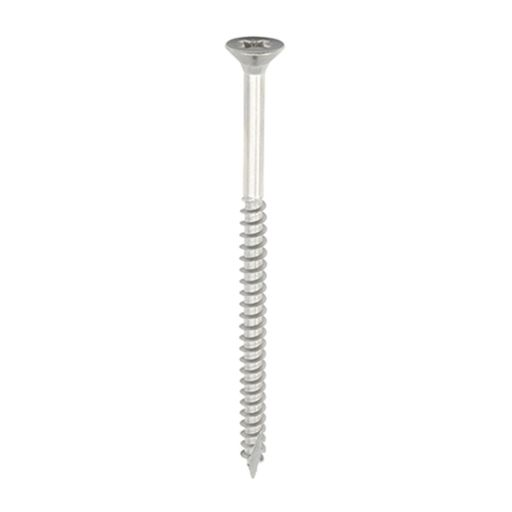 TIMco Classic Multi-Purpose Screws - PZ - Double Countersunk - Stainless Steel 5.0 x 80 mm Image 1