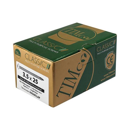 TIMco Classic Multi-Purpose Screws - PZ - Pan Head - Yellow 3.5 x 20 mm Image 2