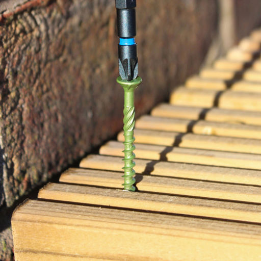 TIMco Solo Decking Screws - PZ - Double Countersunk - Exterior - Green 4.5 x 60 mm Image 3
