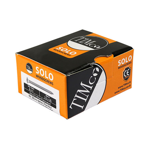 TIMco Solo Woodscrews - PZ - Double Countersunk - Yellow 6.0 x 100 mm Image 2