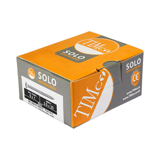 TIMco Solo Woodscrews - PZ - Double Countersunk - Zinc 3.5 x 40 mm Image 2
