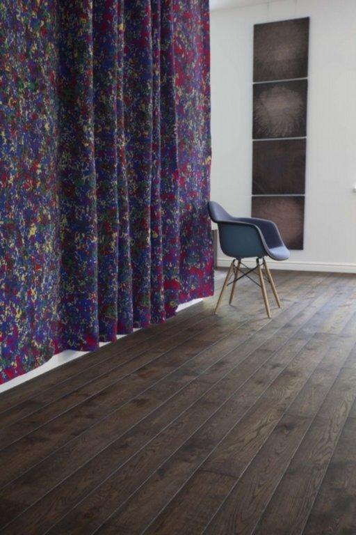 Tradition Ebony Engineered Oak Flooring, Brushed, Oiled, 180x14.5 mm Image 1