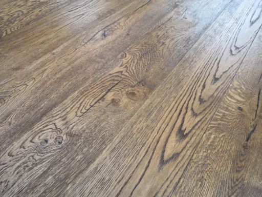 Tradition Antique Brown Engineered Oak Flooring, Distressed, Brushed, Oiled, 190x3x14 mm Image 2