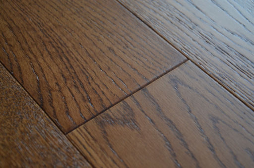 Tradition Brown Oak Engineered Flooring, Rustic, Brushed Lacquered, 127x10x1200 mm Image 1