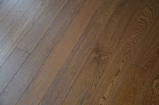 Tradition Brown Oak Engineered Flooring, Rustic, Brushed Lacquered, 127x10x1200 mm Image 3