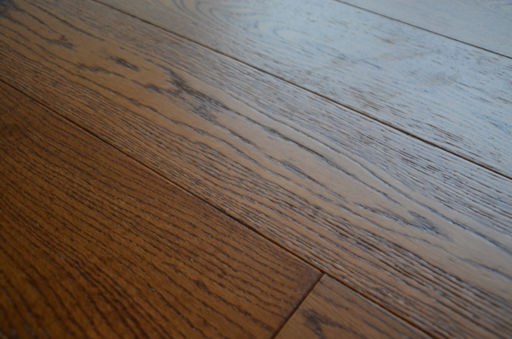 Tradition Brown Oak Engineered Flooring, Rustic, Brushed Lacquered, 127x10x1200 mm Image 4